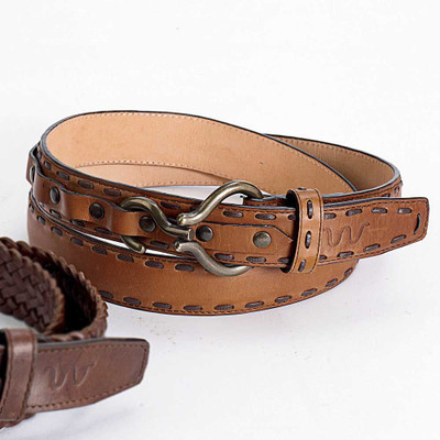 Saddle Stitch Hoof Pic Belt