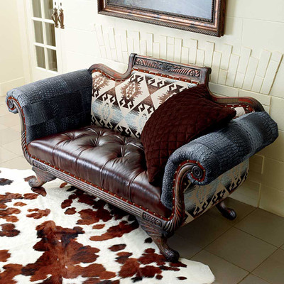 Handcrafted Patchwork Loveseat