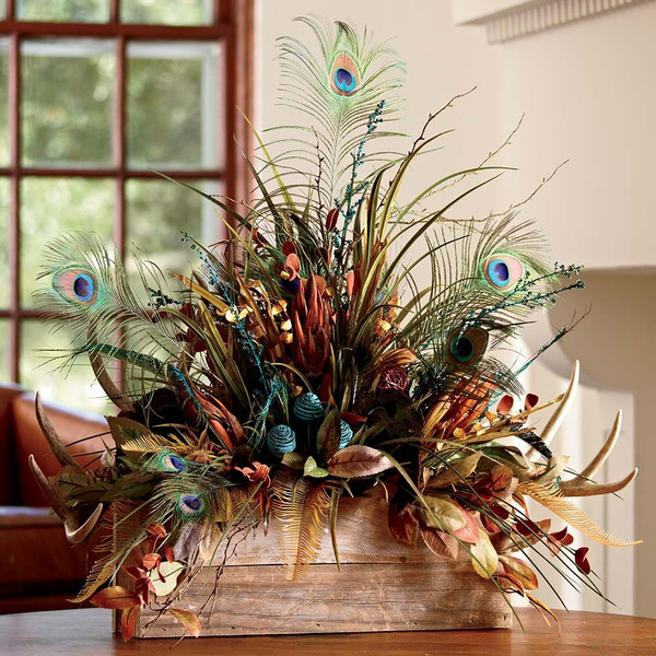 Feather Amp Antler Centerpiece King Ranch Saddle Shop