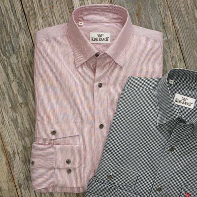 Red and White Stripe Remington Shir