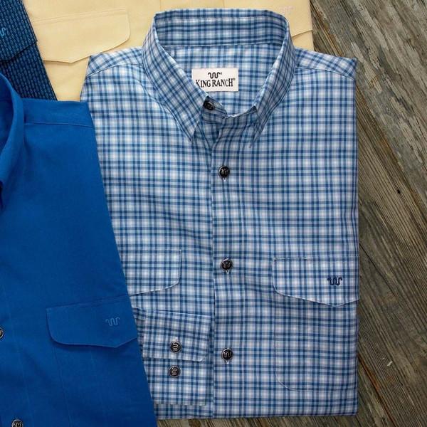 Blue Windowpane Stripe Colt Shirt