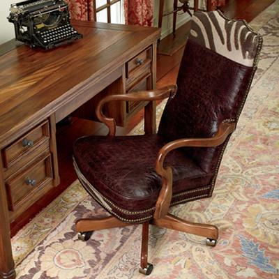 Zebra Embossed Office Chair