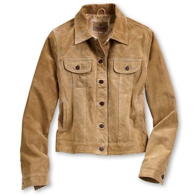 Buckskin and Boar Suede Jacket