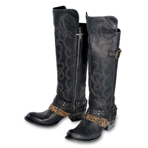 Knee High Stitched Zip Boots