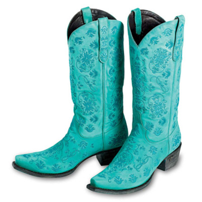Turquoise Embroidery Boot