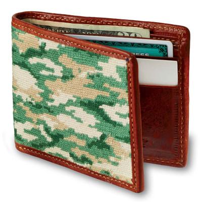 Camo Needlepoint Wallet