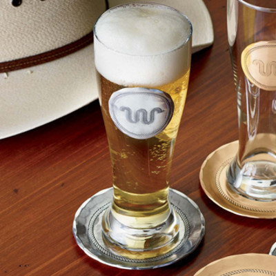 Aluminum King Ranch Pilsner Glass