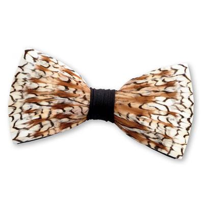 Bobwhite Quail Feather Bow Tie
