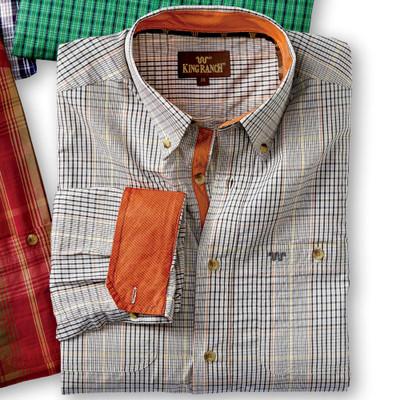 Rust/Cream Plaid Shirt