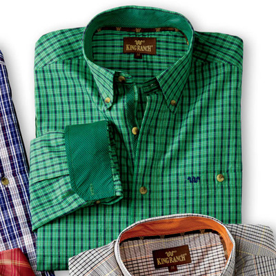Green/Navy Plaid Shirt