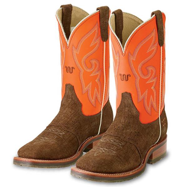 Orange Napa Square Toe Roper Boots