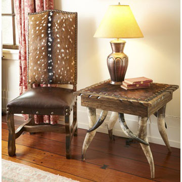 Captivating Deer Axis Hide Chair