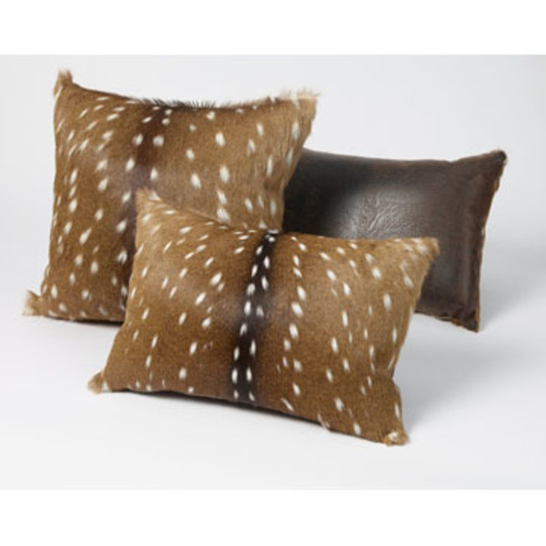 Faux Deer Hide Pillows : Axis Deer Rectangle Pillow - King Ranch Saddle Shop