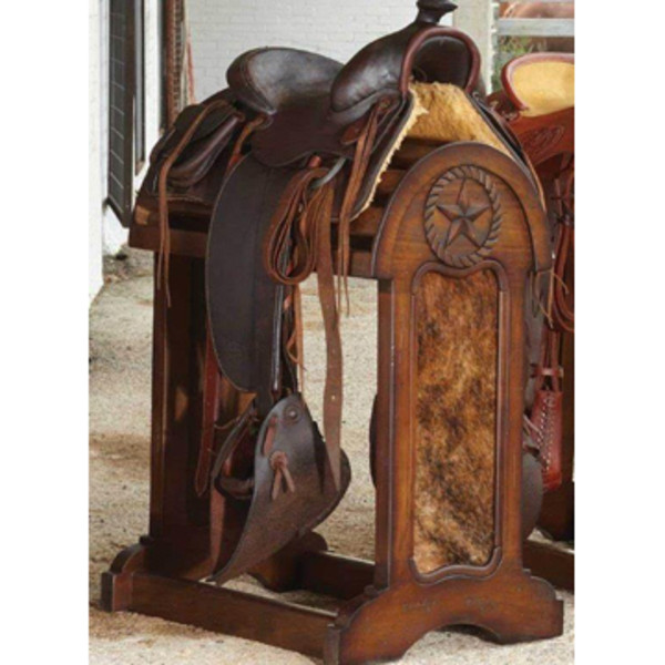 Ranch Hair On Hide Star Saddle Stand