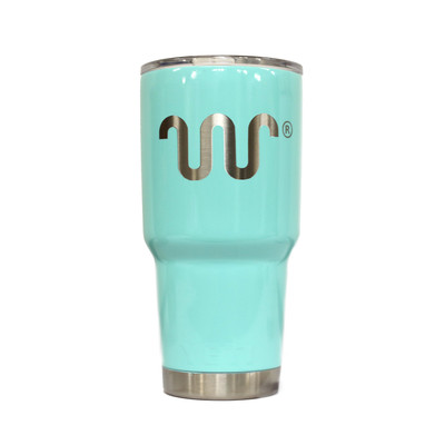Turquoise Dipped Yeti Cup