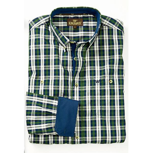 Men's Plaid Shirts Green & Navy