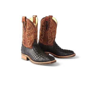 Caiman Print Cowboy Work Boots