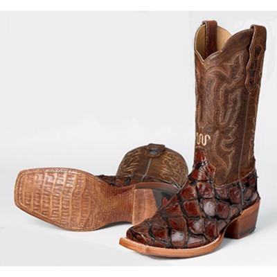 Whiskey Sea Bass Leather Boots