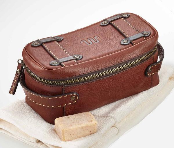 Leather Saddle Stitch Dopp Kit