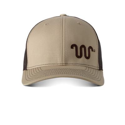RICHARDSON MESH CAP-KHAKI W/ CHOC R