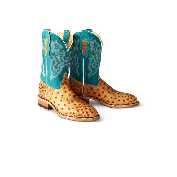 Full Quill Ostrich Cowboy Boots