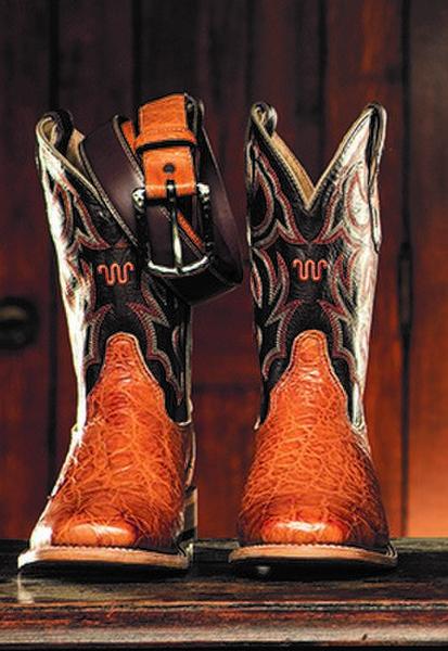 Cognac Large Alligator Cowboy Boots