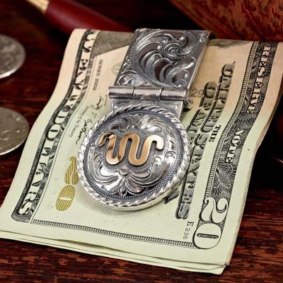 Domed Concho Money Clip