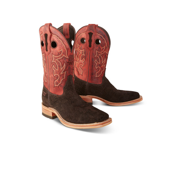 CHOCOLATE SUEDED COWBOY BOOT