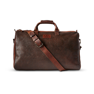 Tooled Leather Duffle