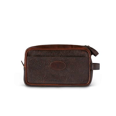 Tooled Leather Dopp Kit