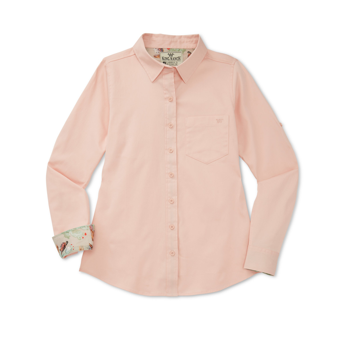 LADIES TWILL LONG SLEEVE BUTTON UP