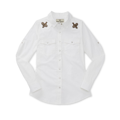 Ladies Long sleeve button up shirt