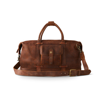 LEATHER DUFFEL BAG ROUGH OUT