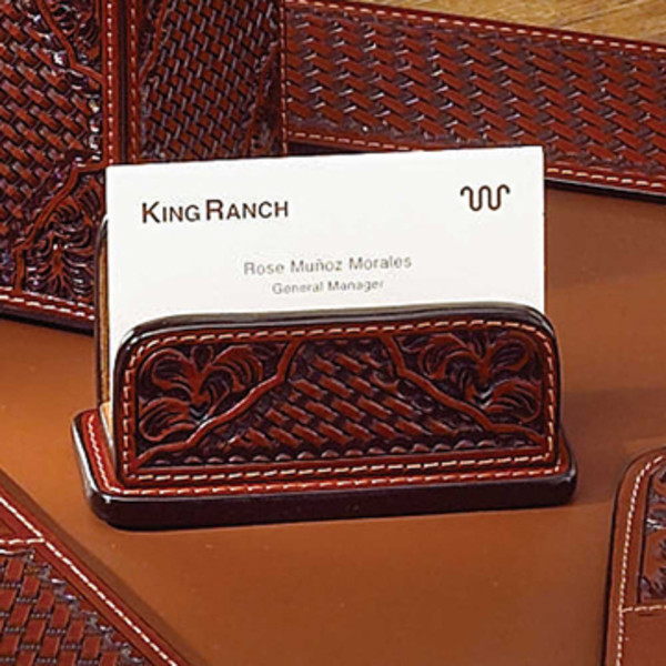 tooled leather business card holder - Leather Business Card Holder