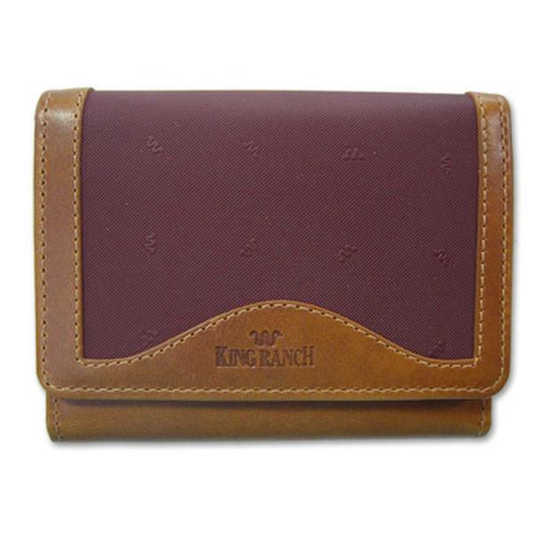 Maroon Ladies Tri-Fold Wallet