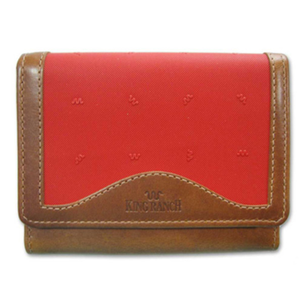 Red Ladies Tri Fold Clutch Wallet