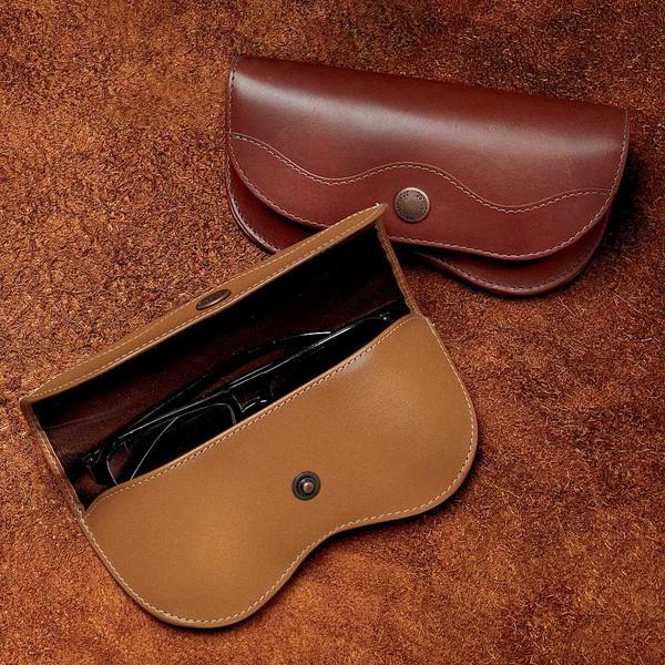Fabulous Leather Eyeglass Case - King Ranch Saddle Shop UJ42