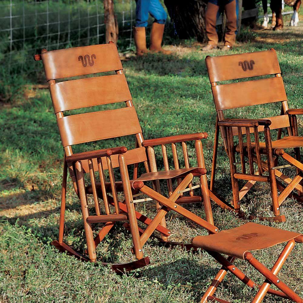 King Ranch High Back Rocking Chair