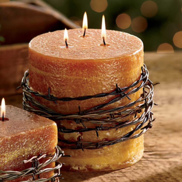 Round Barbed Wire Candle