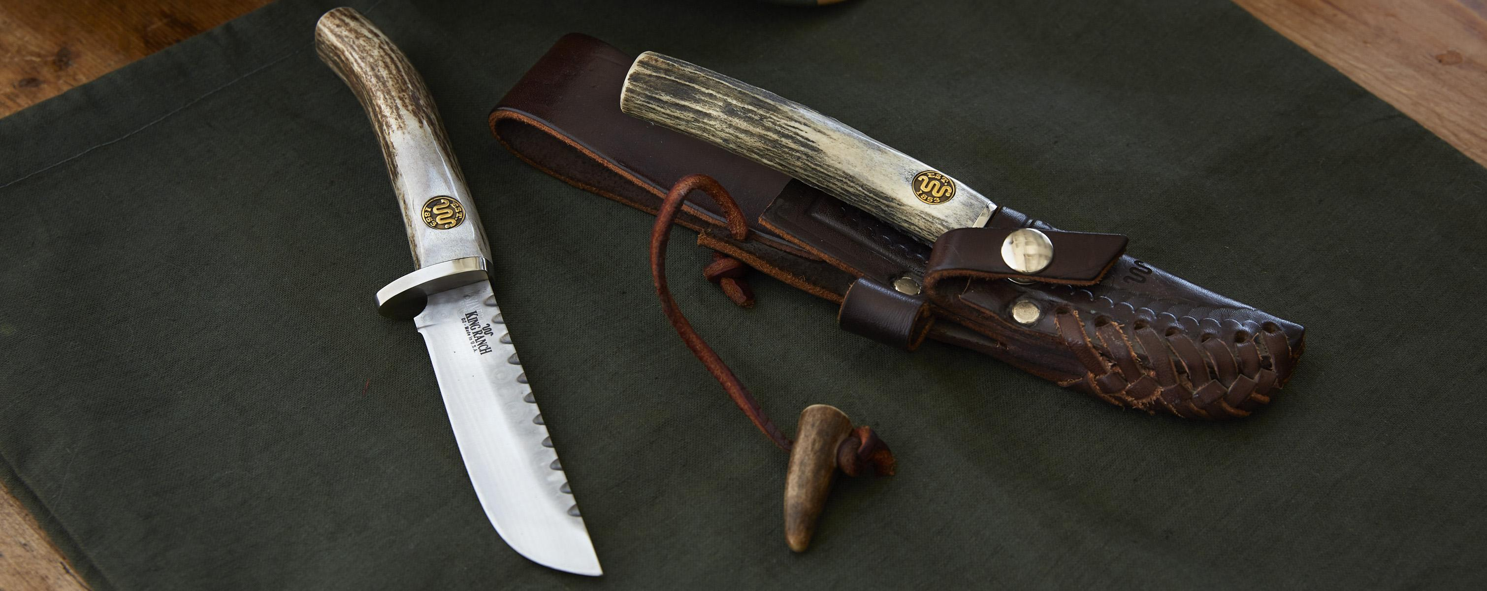 New silver stag knives